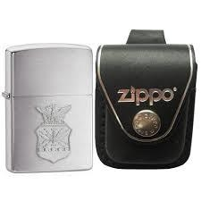 Zippo US Air Force Crest Emblem Brushed Chrome 1