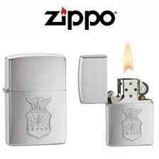 Zippo US Air Force Crest Emblem Brushed Chrome 2