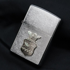 Zippo US Air Force Crest Emblem Brushed Chrome 3