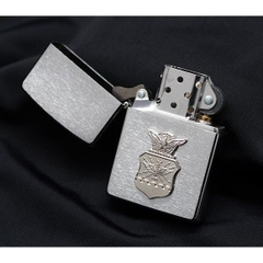 Zippo US Air Force Crest Emblem Brushed Chrome 4
