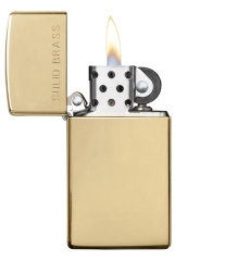 Zippo Polished Brass Engraved Slim 3