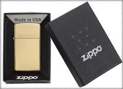 Zippo Polished Brass Engraved Slim 5