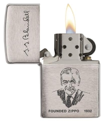 Zippo Founder's Lighter Brushed Chrome 2