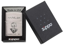 Zippo Founder's Lighter Brushed Chrome 3