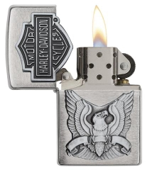 Zippo Made in the USA Emblem Brushed Chrome 1