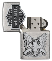 Zippo Made in the USA Emblem Brushed Chrome 2
