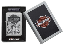 Zippo Made in the USA Emblem Brushed Chrome 4