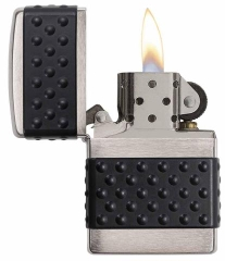 Zippo Black Zip Guard Brushed Chrome 2