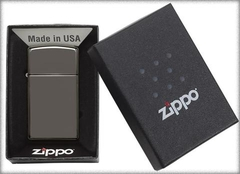 Zippo Black Ice (Dark Chrome) Slim 4