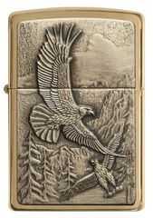 Zippo Where Eagles Dare Brushed Brass 1