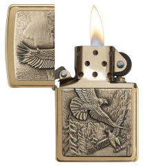 Zippo Where Eagles Dare Brushed Brass 2