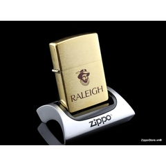 Zippo Solid Brass Raleigh XII