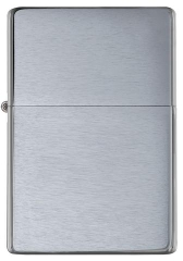 Zippo Vintage Brushed Chrome (No slashes) 1