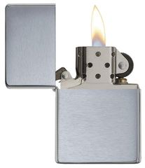 Zippo Vintage Brushed Chrome (No slashes) 4