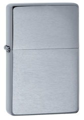 Zippo Vintage Brushed Chrome (No slashes)