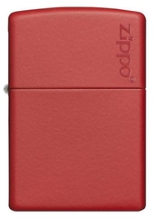 Zippo Red Matte with Logo 1