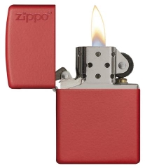 Zippo Red Matte with Logo 2