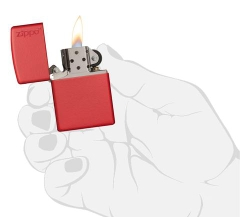 Zippo Red Matte with Logo 3
