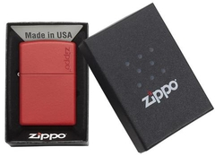 Zippo Red Matte with Logo 4