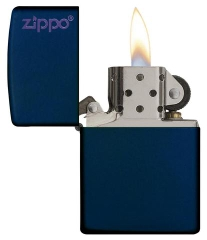 Zippo Navy Matte with Logo 2