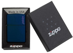 Zippo Navy Matte with Logo 4