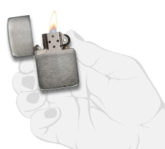 Zippo 1941 Replica Black Ice  (Dark Chrome) 3