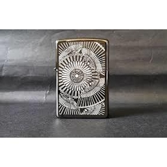 Zippo Asian Floral Black Ice 6