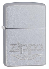 Zippo Scroll Satin Chrome