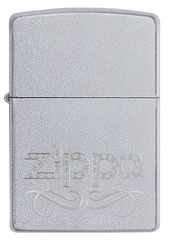 Zippo Scroll Satin Chrome 1