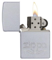 Zippo Scroll Satin Chrome 2