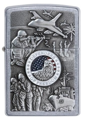 Zippo Joined Forces Emblem Street Chrome 1