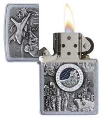 Zippo Joined Forces Emblem Street Chrome 2
