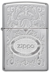 Zippo Gleaming Patina High Polish Chrome 1