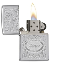 Zippo Gleaming Patina High Polish Chrome 2