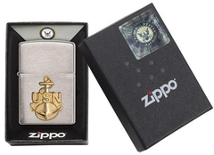 Zippo US Navy Anchor Emblem Brushed  4