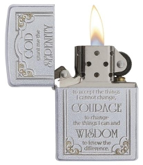 Zippo Serenity Prayer Satin Chrome 2