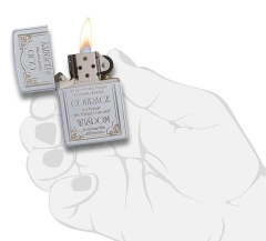 Zippo Serenity Prayer Satin Chrome 3