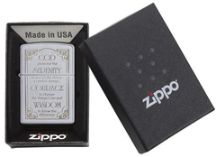 Zippo Serenity Prayer Satin Chrome 4