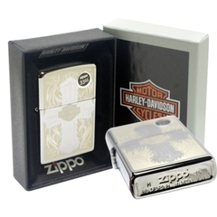 Zippo Harley Davidson Cross Polished Chrome 7