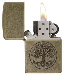 Zippo Tree of Life Antique Brass 2