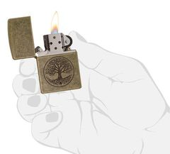 Zippo Tree of Life Antique Brass 3