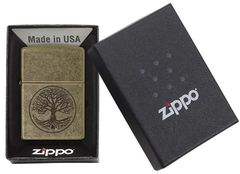 Zippo Tree of Life Antique Brass 4