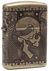 Zippo Steampunk 360 Multicut Antique Brass Armor