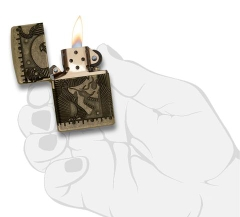 Zippo Steampunk 360 Multicut Antique Brass Armor 7