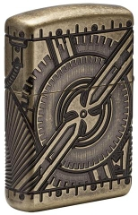 Zippo Steampunk 360 Multicut Antique Brass Armor 1