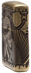 Zippo Steampunk 360 Multicut Antique Brass Armor 4