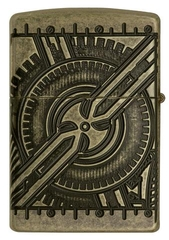 Zippo Steampunk 360 Multicut Antique Brass Armor 5