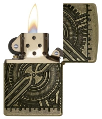 Zippo Steampunk 360 Multicut Antique Brass Armor 6