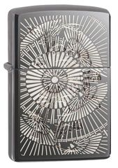 Zippo Asian Floral Black Ice