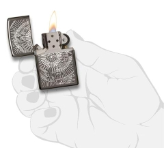 Zippo Asian Floral Black Ice 4
